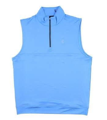 New W/ Logo Mens Dunning Golf Vest Large L Blue MSRP $90 D7S13V647
