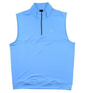 New W/ Logo Mens Dunning Golf Vest X-Large XL Blue MSRP $90 D7S13V647