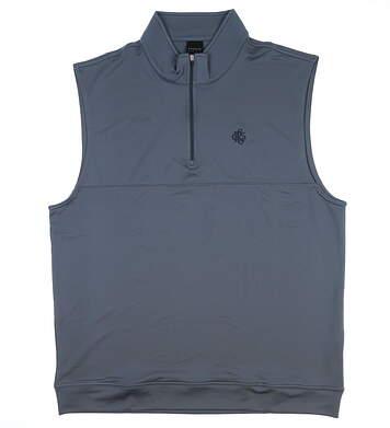 New W/ Logo Mens Dunning Golf Vest Large L Gray MSRP $90 D7S13V647