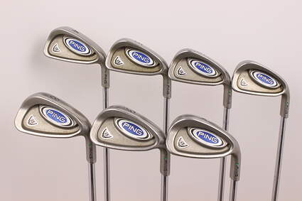 Ping i5 Iron Set 4-PW True Temper Dynamic Gold Steel Stiff Right Handed Green Dot 39 in
