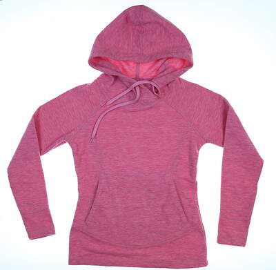 New Womens Straight Down Fleece Hoodie X-Small XS Rose MSRP $100 W60257