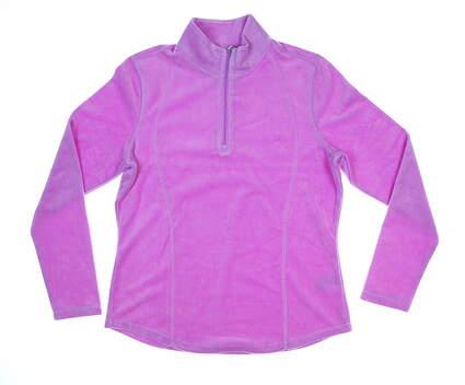New Womens Greg Norman Essentials 1/4 Zip Pullover Medium M Orchid MSRP $80 G2S8K462