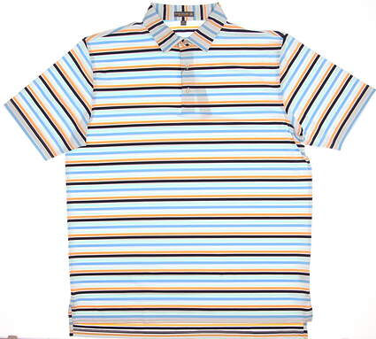 New Mens Peter Millar Summer Comfort Golf Polo X-Large XL Multi MSRP $85 MS18EK14S