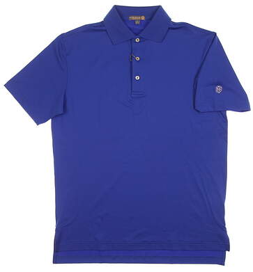 New W/ Logo Mens Peter Millar Summer Comfort Polo Small S Blue MSRP $85