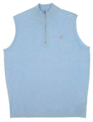 New W/ Logo Mens Peter Millar 1/4 Zip Sweater Vest Medium M Wave MSRP $165 MS16ES02