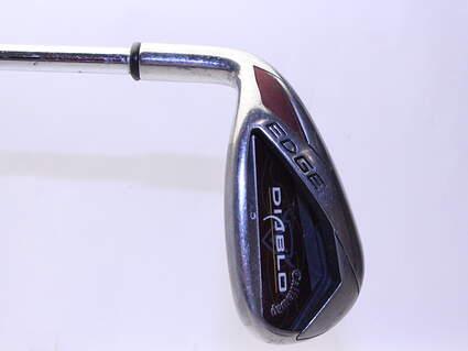 Callaway Diablo Edge Single Iron Pitching Wedge PW Stock Steel Shaft Steel Uniflex Left Handed 35.5 in