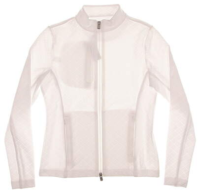 New Womens Peter Millar Golf Jacket X-Small XS White MSRP $120 LF15K42