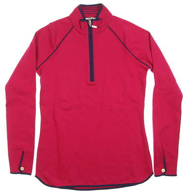 New Womens Bobby Jones 1/2 Zip Pullover X-Small XS Pink MSRP $85 BWK48813
