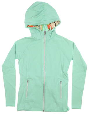 New Womens Ralph Lauren Full Zip Hoodie Small S Soft Jade MSRP $120