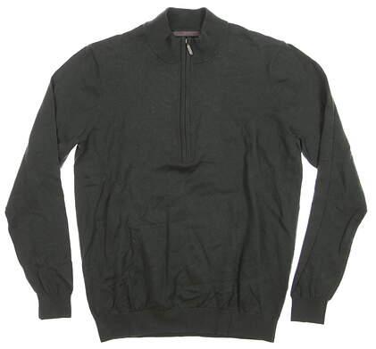 New Mens Ashworth 1/4 Zip Sweater Medium M Green MSRP $90 Z88286