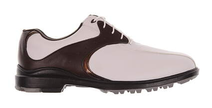 New Mens Golf Shoe Footjoy Greenjoys Medium 9.5 White/Brown MSRP $90