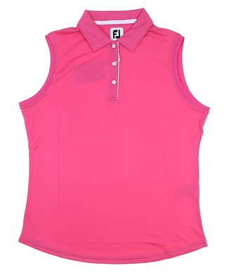 New Womens Footjoy Interlock Sleeveless Polo Small S Hot Pink MSRP $60 27074
