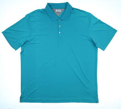 New Mens Adidas Adipure Spring Polo Large L Blue MSRP $80 CE0506
