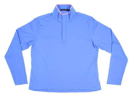 New Womens Ralph Lauren Polo Golf 1/4 Zip Pullover Small S Blue MSRP $125