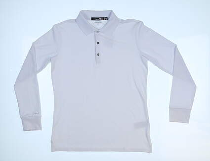 New Womens Ralph Lauren RLX Long Sleeve Polo X-Small XS White MSRP $99