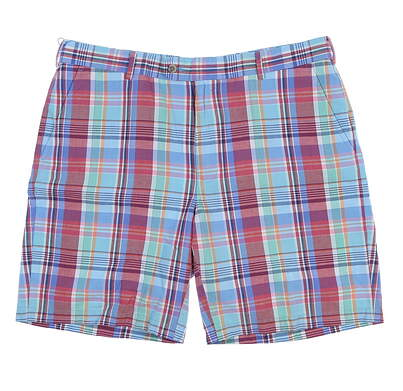 New Mens Peter Millar Madras Shorts Size 38 Cape Red MSRP $98 MS18B08
