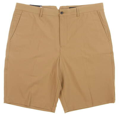 New Mens Dunning Player Fit Golf Shorts Size 36 Khaki MSRP $80 D7S13H055