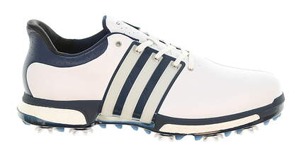 New Mens Golf Shoe Adidas Tour 360 Boost Wide 11 White/Blue MSRP $200