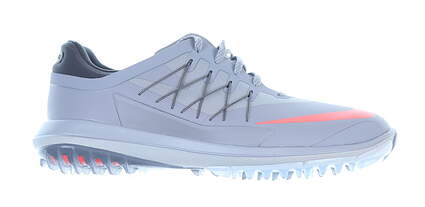 New Mens Golf Shoe Nike Lunar Control Vapor Medium 10 Wolf Gray/Lava Glow MSRP $175