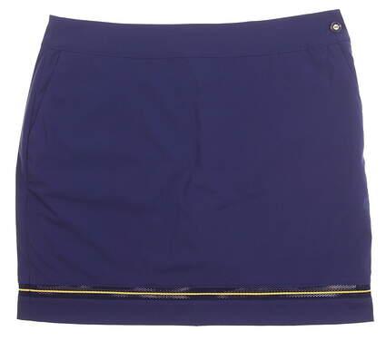 New Womens EP NY Stripe Mesh Detail Skort Size 8 Inky Multi MSRP $85 1230NBC