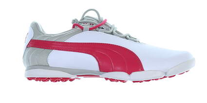 New Womens Golf Shoe Puma SunnyLite 7.5 White/Rose Red/Gray MSRP $80