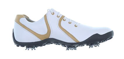 New Womens Golf Shoe Footjoy LoPro Collection Narrow 7.5 White/Tan MSRP $115