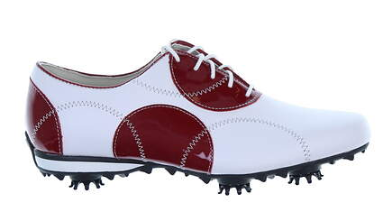 New Womens Golf Shoe Footjoy LoPro Collection Medium 8.5 White/Red MSRP $115