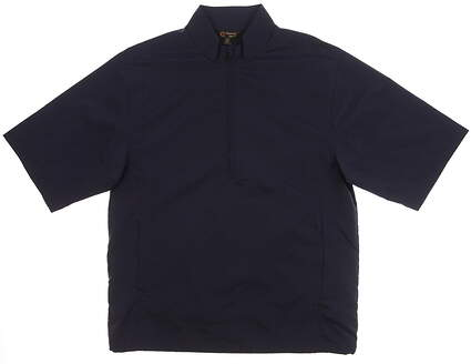 New Mens Monterey Club Short Sleeve Golf Wind Jacket Small S Navy Blue MSRP $102 1798-030