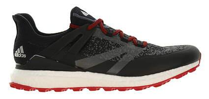 New Mens Golf Shoe Adidas Crossknit Boost Medium 8.5 Black/Onix/Scarlet MSRP $160