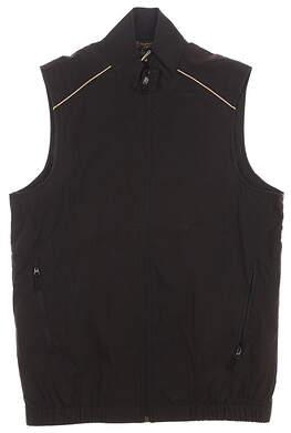 New Mens Monterey Club Golf Vest Small S Black/Khaki MSRP $96 1703-021