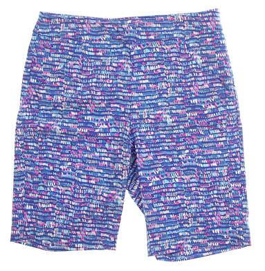 New Womens EP NY Splash Dot Print Compression Shorts Size Large L Blue Yonder Multi 8241NBD