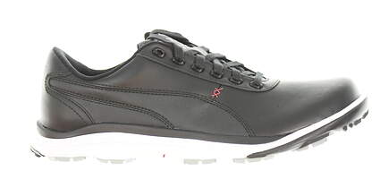 New Mens Golf Shoe Puma BioDrive Leather WB 9.5 Black/White/Tango Red MSRP $180