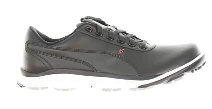 New Mens Golf Shoe Puma BioDrive Leather WB 10 Black/White/Tango Red MSRP $180