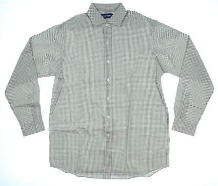 New Mens Polo Golf Ralph Lauren Button Up Medium M White/Green MSRP $90