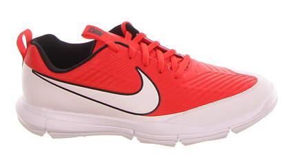 New Mens Golf Shoe Nike Explorer 2 9 White/Orange MSRP $75 849957 800