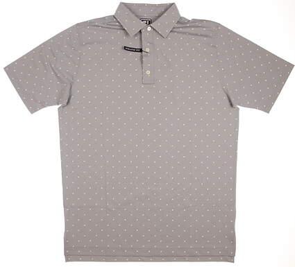 New Mens Footjoy Lisle Square Print Golf Polo Large L Gray/White/Honeydew MSRP $75 25671
