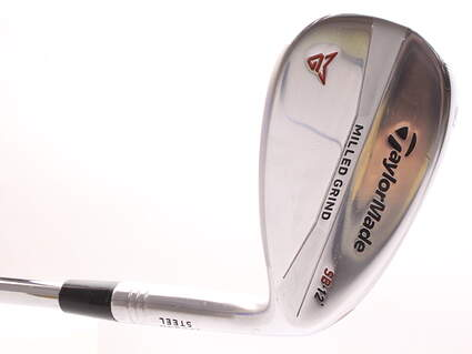 TaylorMade Milled Grind Satin Chrome Wedge Sand SW 56* 12 Deg Bounce True Temper Dynamic Gold Steel Wedge Flex Right Handed 35.25 in