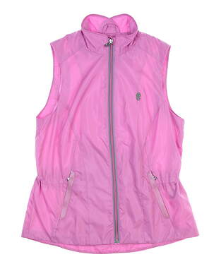 New W/ Logo Womens Ralph Lauren Golf Vest X-Small XS Pink MSRP $125