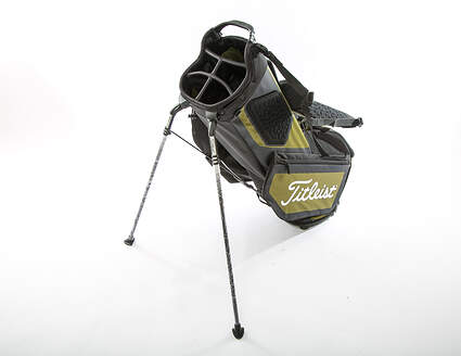 New Titleist Players 5 Stand Bag Black/Olive/Red With Rain Cover