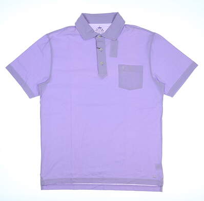 New W/ Logo Mens Peter Millar Mountainside Collection Polo Small S Purple MSRP $78 MF17K70P