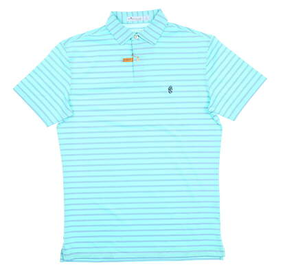 New W/ Logo Mens Peter Millar Tour Fit Golf Polo Small S Green MSRP $89 MF18EK203STO