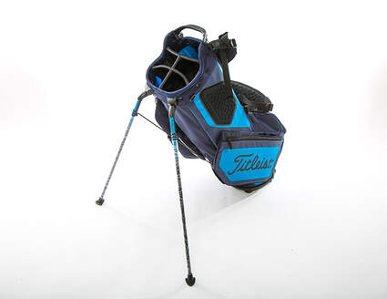 New Titleist Players 5 Stand Bag Navy Blue/Light Blue/Red With Rain Cover