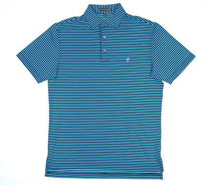New W/ Logo Mens Peter Millar Summer Comfort Golf Polo Small S Multi MSRP $89 MS18EK02S