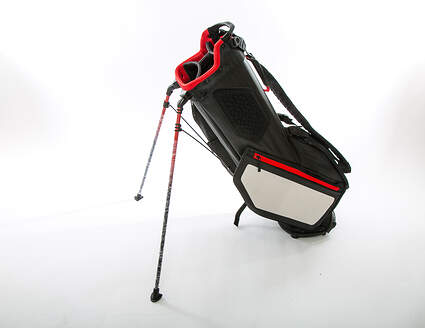 New Titleist Players 4 Stand Bag Black/White/Red With Rain Cover