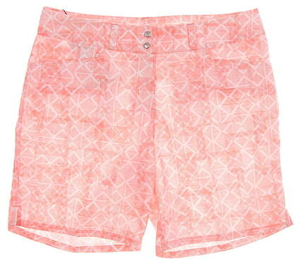 New Womens Adidas Printed Golf Shorts Size 6 Pink MSRP $65 TW6226S8