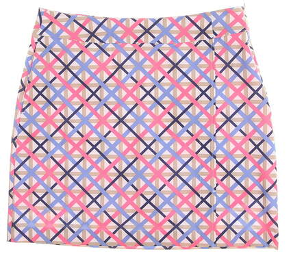 New Womens EP Pro19 in. Lattice Print Golf Skort Size 8 White Multi MSRP $88 1211NBA