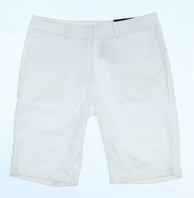 New Womens Nike Regular Fit Golf Shorts Size 2 White MSRP $75 747135