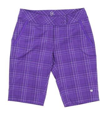 New Womens EP Pro Sport Medici Golf Shorts Size 4 Blackberry Multi MSRP $85 6208SCB