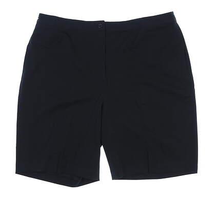 New Womens EP Pro Basics Golf Shorts Size 16 Black Multi MSRP $68 8151B