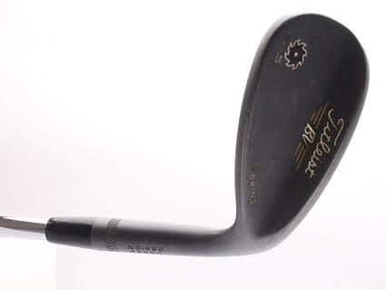 Titleist Vokey SM5 Raw Black Wedge Lob LW 60* 7 Deg Bounce S Grind Titleist SM5 BV Steel Wedge Flex Right Handed 35 in